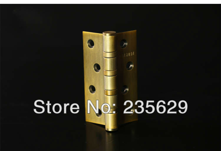 Free Shipping, Antique Brass Finished Hinges for timber door / Metal Door, Stainless Steel material, 4*3*3, Low Noise free shipping 20pcs antique bronze hardware 4 holes diy box butt door hinges not including screws 29x27mm j3018