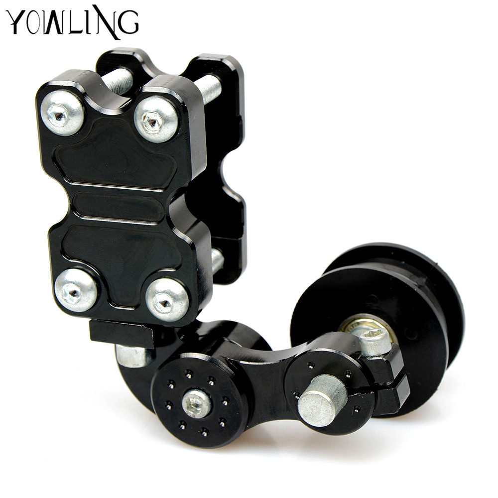 Adjustable Aluminum Chain Tensioner Bolt on Roller Motorcycle Chopper For Kawasaki Z250 ER6N NInja 250 ER6 Z1000 Z800 Z750 Z300 adjustable aluminum chain tensioner bolt on roller motocross motorcycle dirt street bike atvs chopper for yamaha ducati