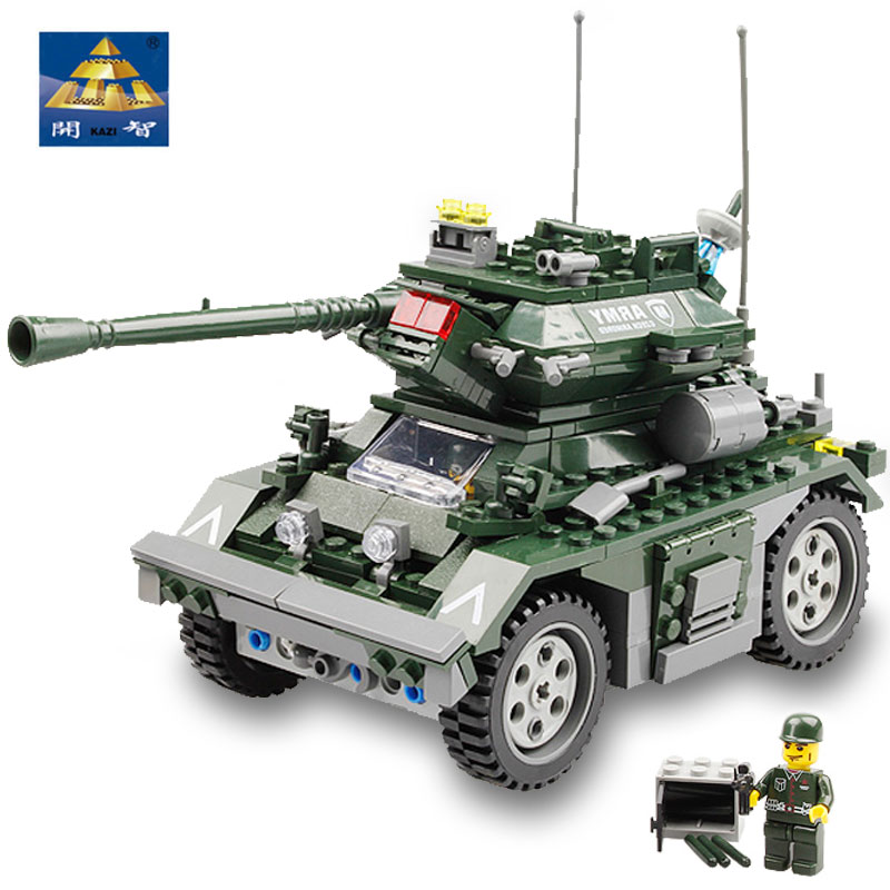 ФОТО kazi military building blocks of enlightenment self-locking armored car soldier minifigures for boys toys