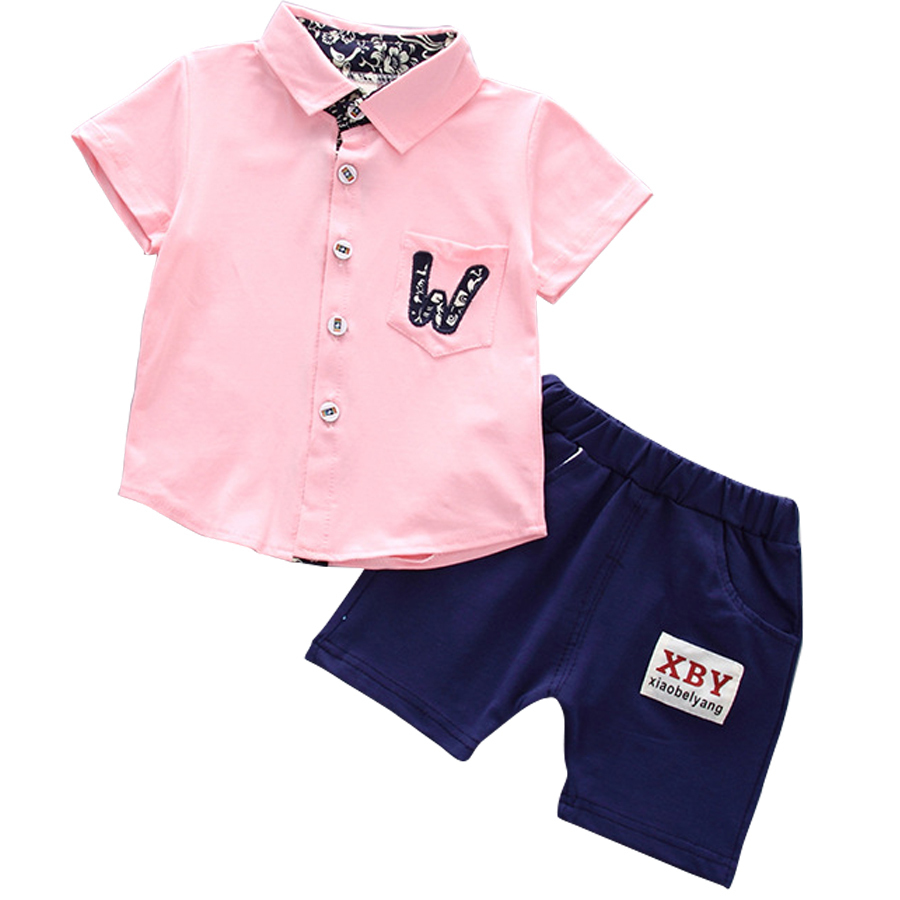 Enfants Vêtements Set Toddler Cool Bébé Garçon Coton Tissé Solide ... 6414ef8df89