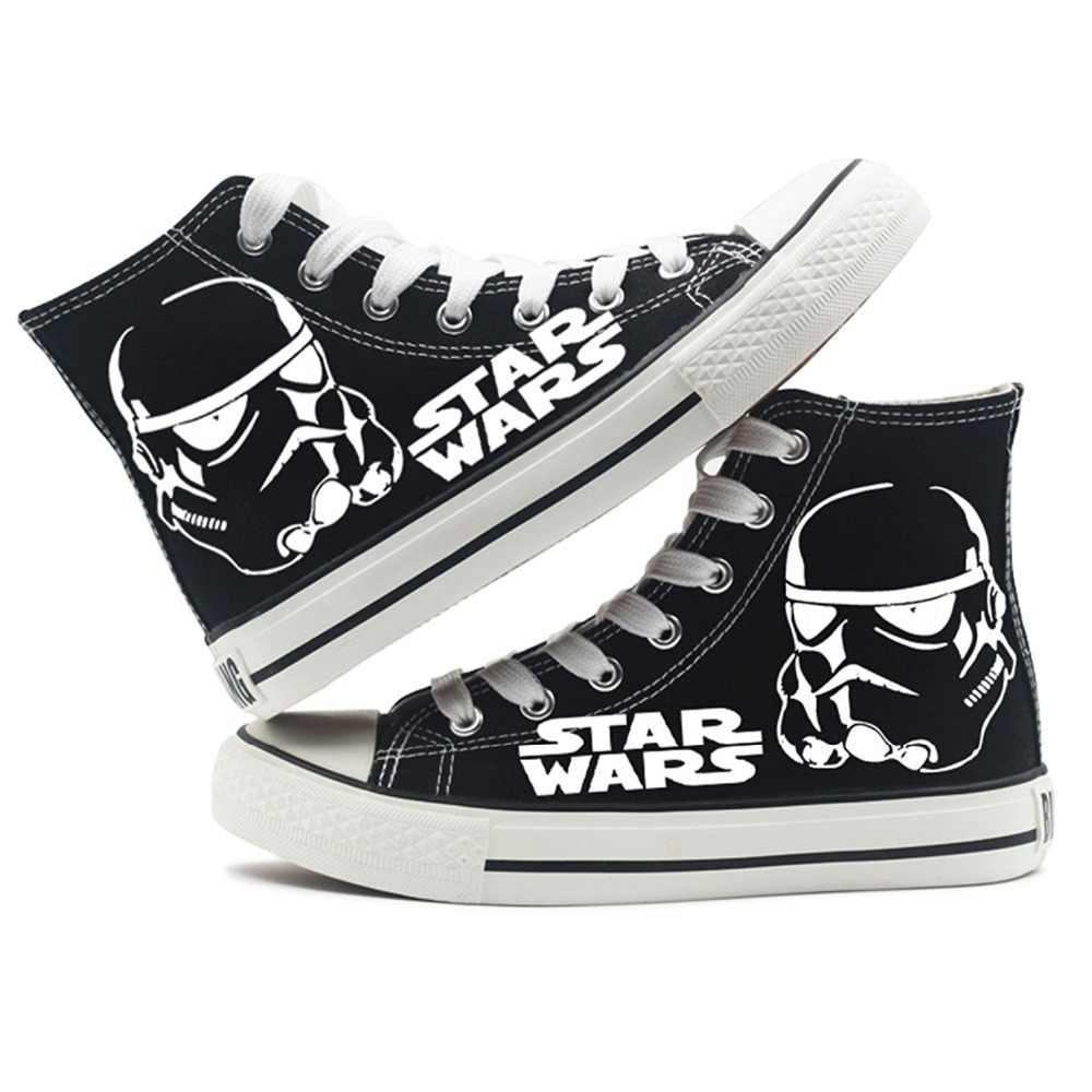 7af0d82e47a445 Star Wars Shoes Darth Vader Anakin Skywalker Cosplay Shoes Canvas Shoes  Black