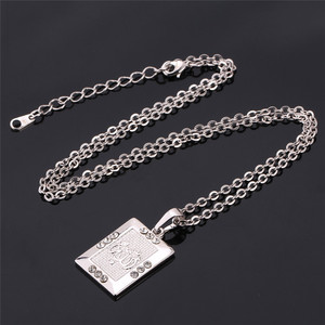 Image 5 - U7 Allah Jewelry Wholesale Gold Color Rhinestone Vintage Style Square Pendant Necklace For Muslim Women P482