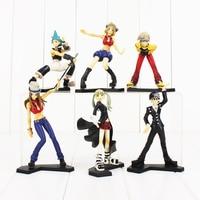 6pcs/set Anime Soul Eater Maka Black Star Death the Kid Lizu PVC Action Figures Collectible Toys
