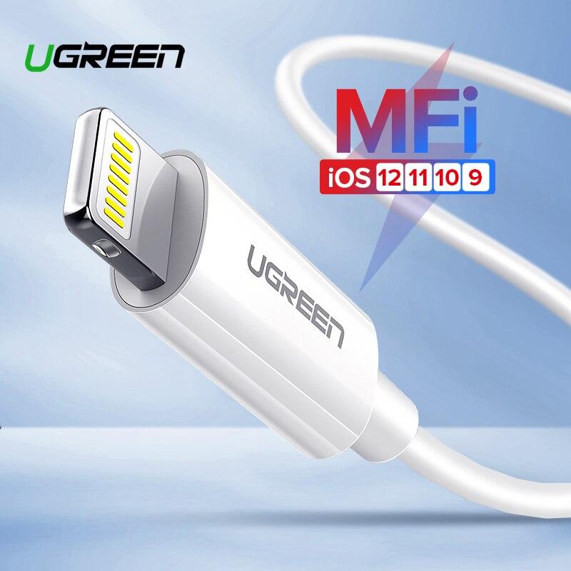 Ugreen Cable USB para Cable de iPhone X Xs X Max XR 2.4A de carga rápida USB cargador de Cable de datos para iPhone 8 7 6 6 Plus USB cargador de cable