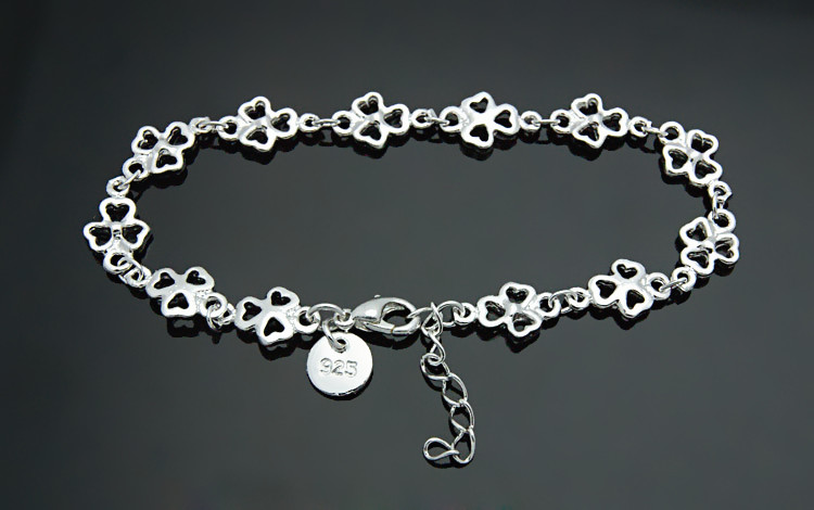 Hot Sale Beautiful Flower Bracelets Solid 925 Sterling Silver