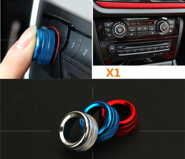 Middle Console Air Conditioner Knobs Decorative Cover Trim