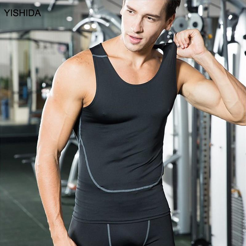 2017 newet sports vest mens fitness tank tops T-shirt sleeveless shirt compression shirt Athletic singlet Performance Tops shirt
