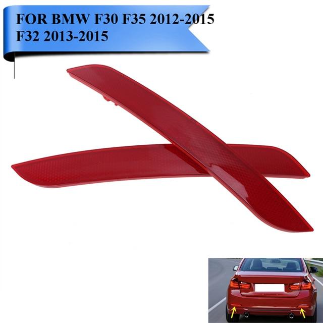 For BMW F30 F35 3-Series 2012-2015 F32 4-Series Clear Red Lens Rear Bumper Reflector Fog Warn Light Auto Car Styling #W099