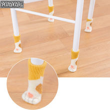 panDaDa Cat Socks Desk Chair Leg Protectors Prevent Cat Claws Knitted Home Furniture Non-slip Clawing Gloves 4 Pcs/set(China)