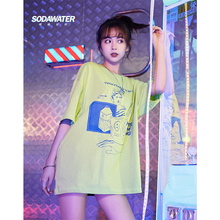 SODAWATER fille 2019 SS Collection Street wear imprimé Tee,Shirt d\u0027été  Style à manches courtes t,shirt Swag coton Couple t,shirt.