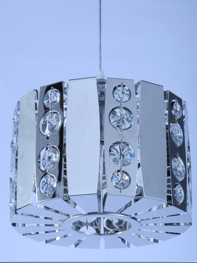Cylinder Stainless Steel Crystal inlaid Living Room Pendant light Free Shipping New Modern Bedroom Dining Room Pendant lamp