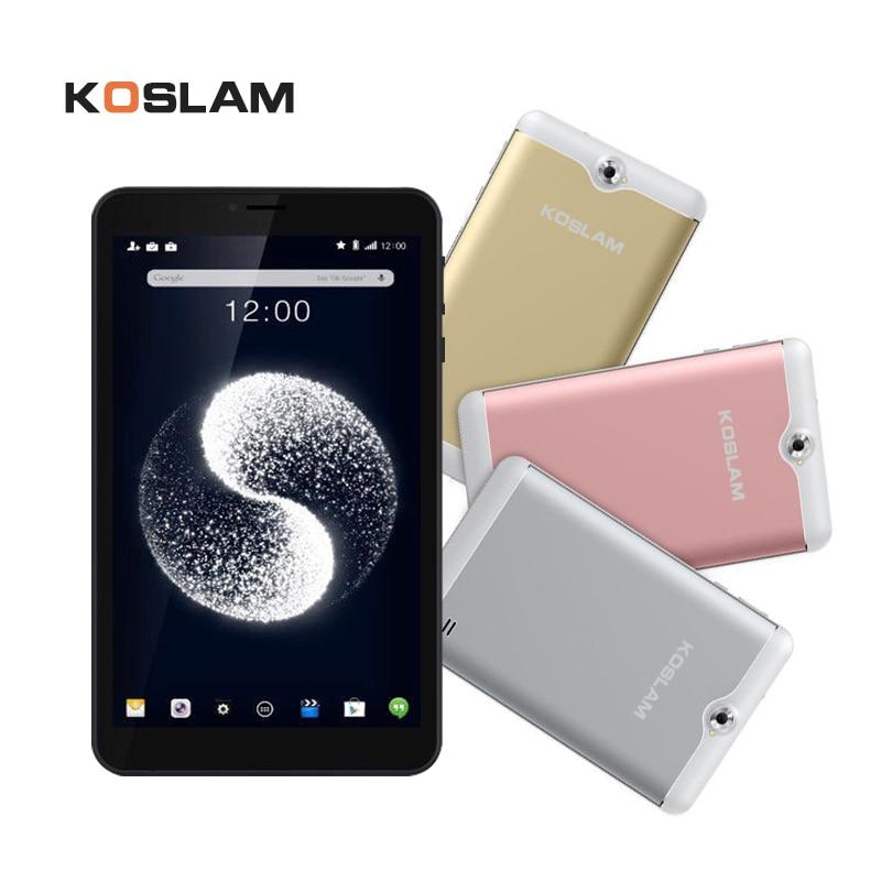 KOSLAM NEW 7'' Android 7.0 MTK Quad Core tablet PC 1GB RAM 8GB ROM Dual SIM Card Slot AGPS WIFI Bluetooth mk808b rk3066 dual core android 4 2 mini pc w 8gb rom 1gb ram bluetooth rii i8 air mouse