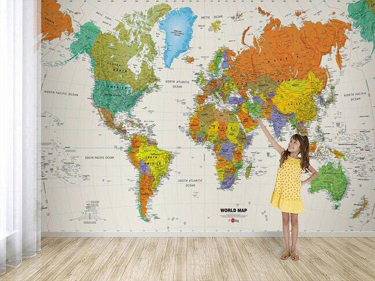 Aliexpresscom  Buy Custom photo wallpaper English world map