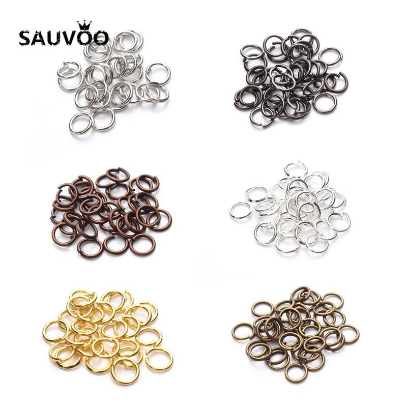 200pcs/bag Wholesale Bronze Silver Gold Rhodium Tone Jump Rings Split Rings Link Loop Rings 4mm 6mm 8mm for DIY Jewelry Findings