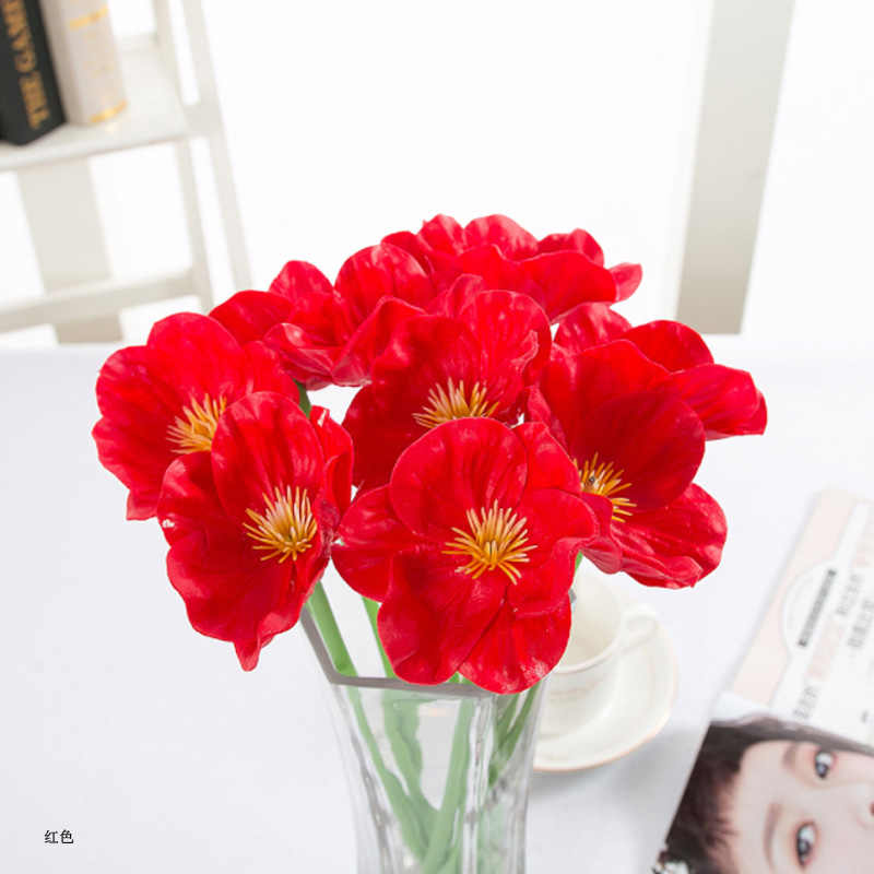 1 Pcs Real Touch Flowers latex Tulips Flower Artificial Bouquet Fake Flower Bridal Bouquet Home Decorate Flowers For Wedding