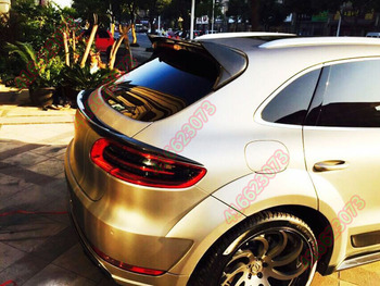 Apto para Porsche Macan fibra de carbono spoiler traseiro asa traseira
