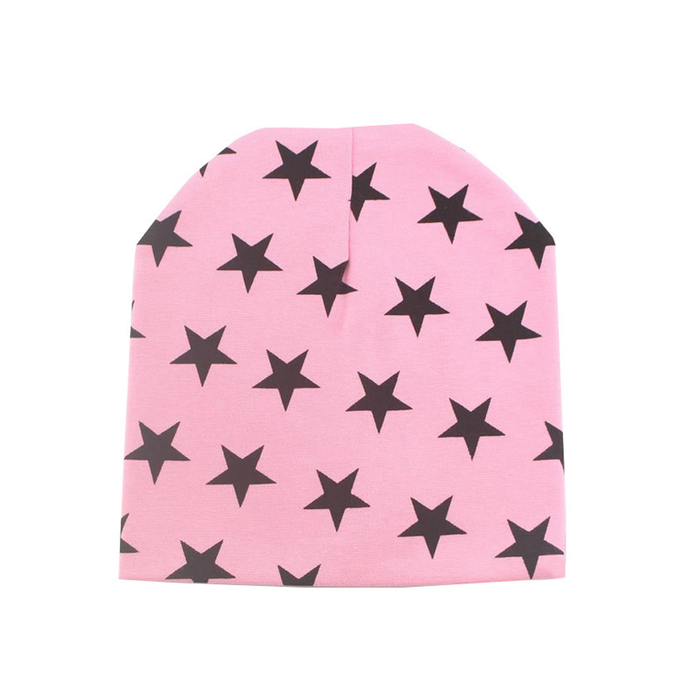WomensDate 1Pcs Pink Children Cotton Knitted Crochet Hat Autumn Winter Girl Boy Hat Beanie Star Print Infant Toddler Cap изотермический контейнер green glade 60 л c22600