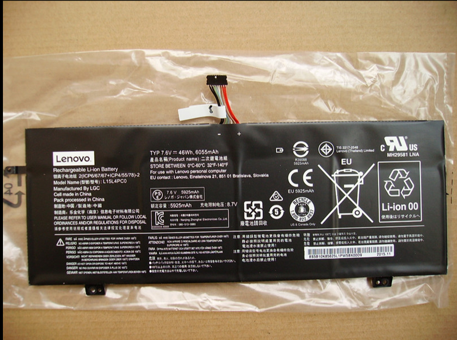 ФОТО L15L4PC0 Genuine Original Laptop Batteries For LENOVO IdeaPad 710S-13ISK-IFI 7.6V 46Wh