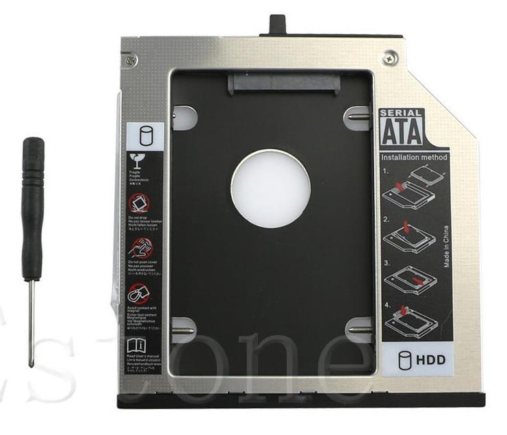 1 Pc SATA 2nd HDD Hard Drive Caddy Bay For IBM Thinkpad T400s T500 T410 W500