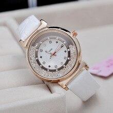 Fashion KEZZI Brand Watch Women Rhinestone Quartz Wristwatch Ladies Leather Band Luxury Watch 5 colors Alloy Relogio