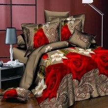 Лучший. WENSD высококачественный роскошный набор пуховых одеял, Семейный комплект с цветами, простыня, пододеяльник, наволочка, простыня-без наполнителя, постельный комплект, постельные принадлежности