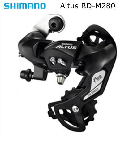 Long Cage Shimano Altus RD-M310 Rear Derailleur 7 8 Speed Black