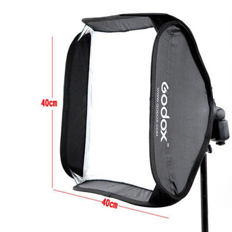 Godox Softbox 40*40 cm / 15 * 15 Diffuser Reflector for Speedlite Flash Light Professional Photo Sutdio 40x40 cm Soft box napkin grass wiper soft microfiber 40 40 cm it 0352
