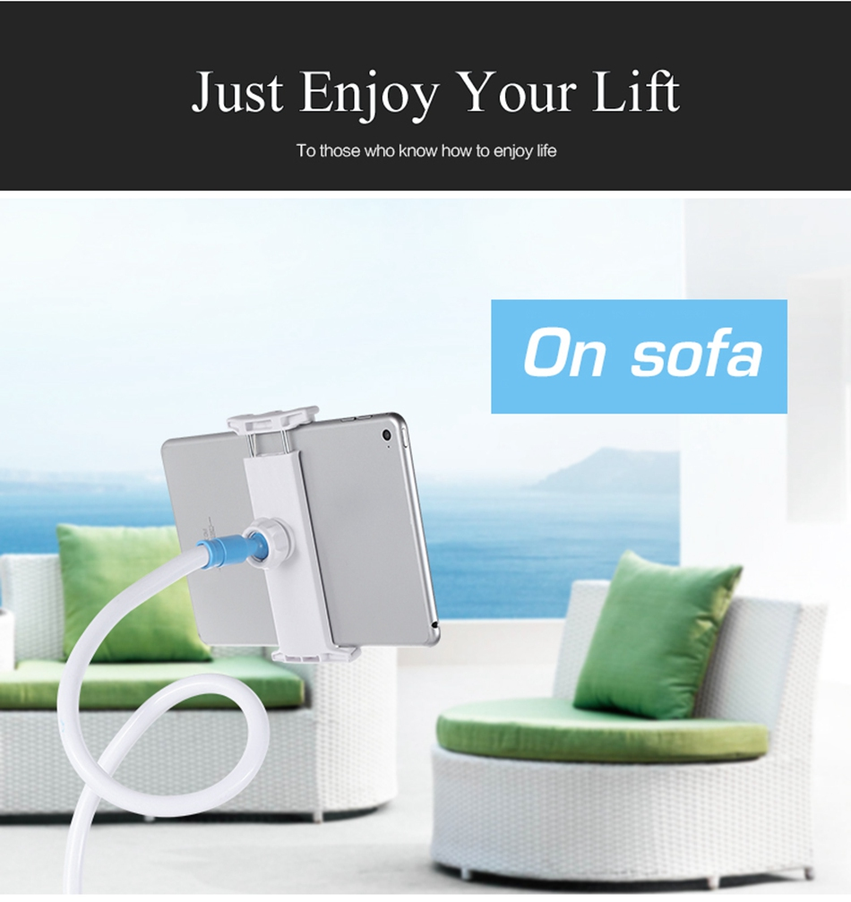 Flexible Rotating Long Arm Lazy Phone And Tablet Holder For Home And Office 2