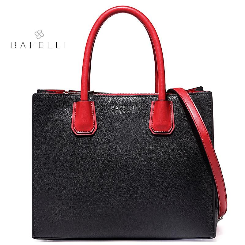 BAFELLI the new split leather shoulder bag fashion box crossbody bgs for women hot sale luxury handbags women bags designer bags цена