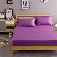 Purple bed fitted sheet bed sheet with pillowcase 120*200cm/150*200cm/180*200cm bed protection pad mattress protector sheet