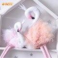 Vicvik marca do bebê travesseiros flamingo cisne branco sharp boneca de pelúcia brinquedos do bebê cama de bebê travesseiro decoração para presente das crianças