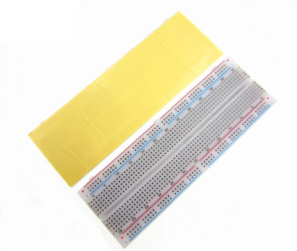 10pcs/lot Breadboard 830 Point Solderless PCB Bread Board MB-102 MB102 Test Develop DIY TIEGOULI plastic solderless breadboard 840 tie point pcb panel 175 x 67 x 8mm