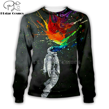Armstrong Color Space Suite 3D Printed Hoodie 1