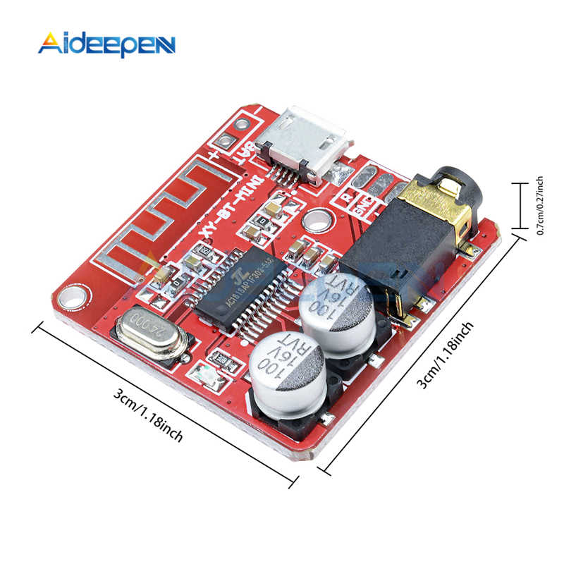 DC 3.7-5V MP3 Bluetooth 4.1 4.2 Decoder Papan Lossless Mobil Speaker Audio Amplifier Papan Kartu TF Mini USB Stereo Receiver Modul