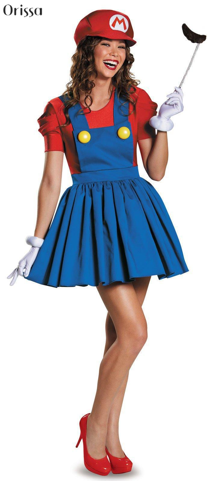 Super Mario Costume Women Luigi Costume Clothing Sexy Plumber Costume Mario Bros Fantasia Super Mario Bros Costumes For Adults-in Sexy Costumes from Novelty ...  sc 1 st  AliExpress.com & Super Mario Costume Women Luigi Costume Clothing Sexy Plumber ...