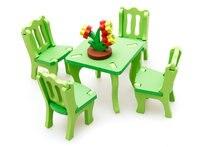 Gratis verzending Kids Hout Living kaptafel Slaapkamer schommelstoel Houten Paard Ect speelgoed Kinderen 3D Vergadering Meubels speelgoed Set