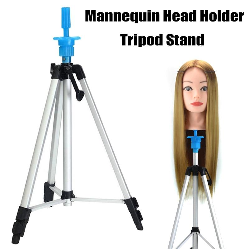 Mannequin Head Holder Tripod Stand Adjustable Hairdressing Practice for Salon Barber Hairdresser WH998