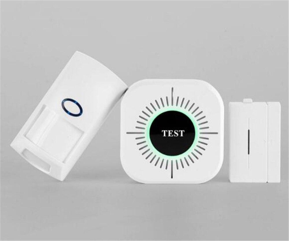 Wireless Smoke Sensor With Motion Detector and Door Alarm Sensor