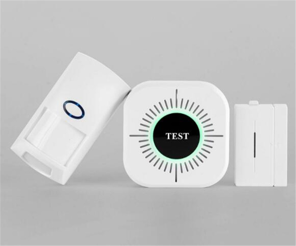 Wireless Smoke Sensor With Motion Detector and Door Alarm Sensor