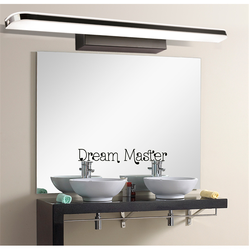 Mirror front lamp LED Waterproof and anti fog bathroom modern simple dressing table lamp lamp 40cm 12w acryl aluminum led wall lamp mirror light for bathroom aisle living room waterproof anti fog mirror lamps 2131