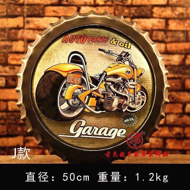 Moto grande HD bière couverture étain signe Logo Plaque Vintage métal peinture mur autocollant fer signe Bar KTV magasin décoratif