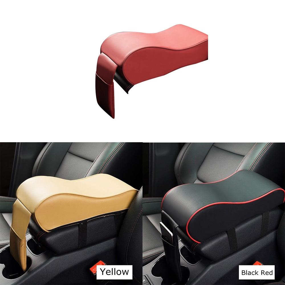 Memoria de espuma de la consola almohadilla de cojín Auto reposabrazos asiento Mat vehículo protector de memoria de algodón apoyabrazos caja Universal almohadilla de reposabrazos de coche PU