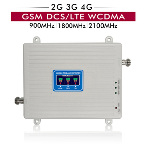 Image 2 - Gain 65dB Tri Band Repeater GSM 900+DCS/LTE 1800+WCDMA UMTS 2100 Mobile Signal Booster 2G 3G 4G Cellular Amplifier 20m Cable Set