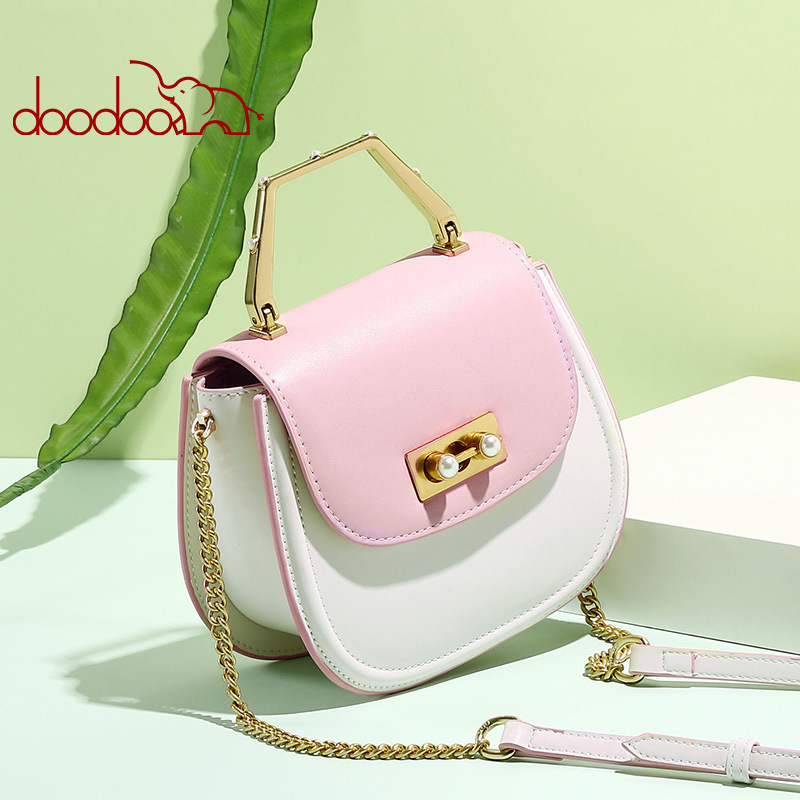 Korean Fashion For Women Oblique Satchel Hand Bill Of Lading Shoulder Pearl Saddle Package Woman Crossbody New Design Beach BagKorean Fashion For Women Oblique Satchel Hand Bill Of Lading Shoulder Pearl Saddle Package Woman Crossbody New Design Beach Bag