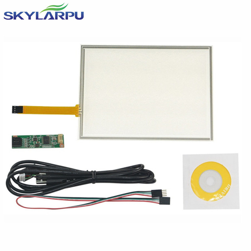 skylarpu New 8inch 4 Wire Resistive Touch Screen Panel USB Controller Kit For EJ080NA-05B Screen touch panel Glass Free shipping