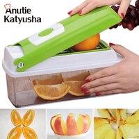 12Pcs/set Multifunction Vegetable Slicer Shredder Fruit Vegetable Graters Potato Peeler Chopper Cutter Mandoline Kitchen Gadgets