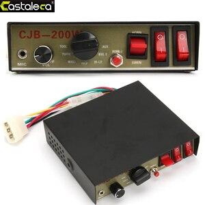 Larath 12V 200W Auto Alarm Sirene Hoorn Beveiligingssystemen Politie Sirene Gastheer Pa Systeem Met Microfoon Luid Waarschuwing elektronische Zoemer