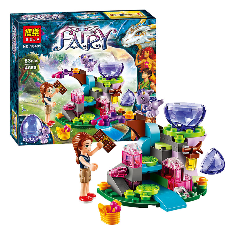 BELA 10499 Elves Emily Jones & the Baby Wind Dragon Building Blocks Bricks Kits For Girl Kids Model Toys For Children aiboully 10415 elves azari aira naida emily jones sky castle fortress mini building block kids bricks toys 41078