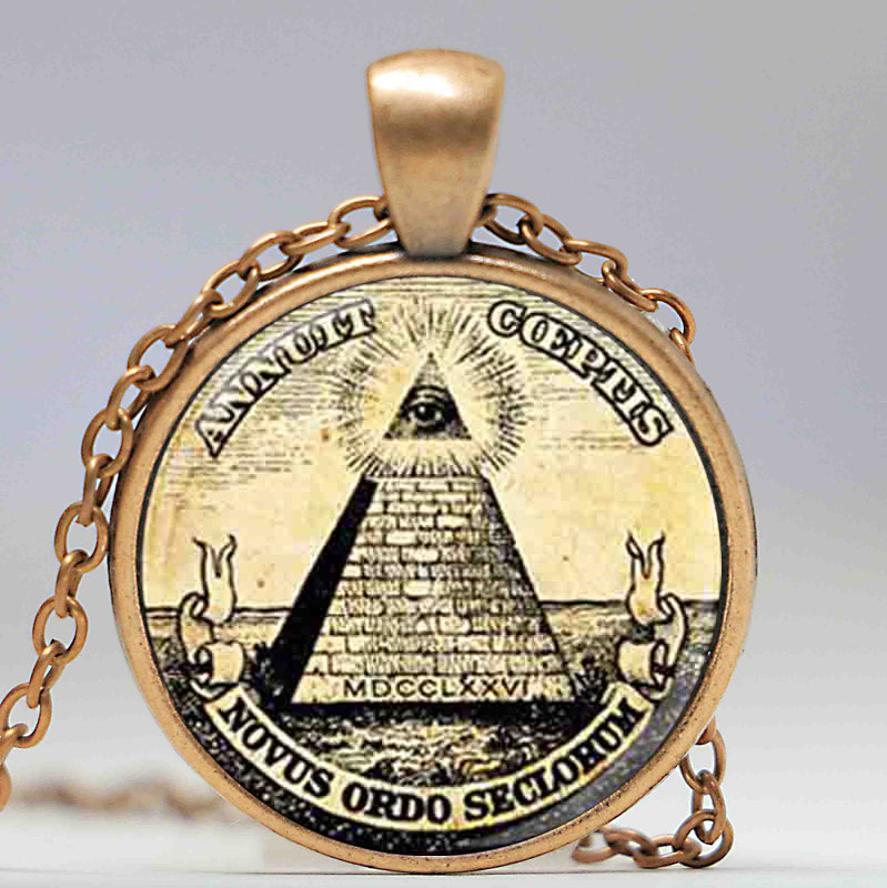 Großhandel Mann Mode Symbol freimaurer Illuminati antiken Druck - Modeschmuck - Foto 4