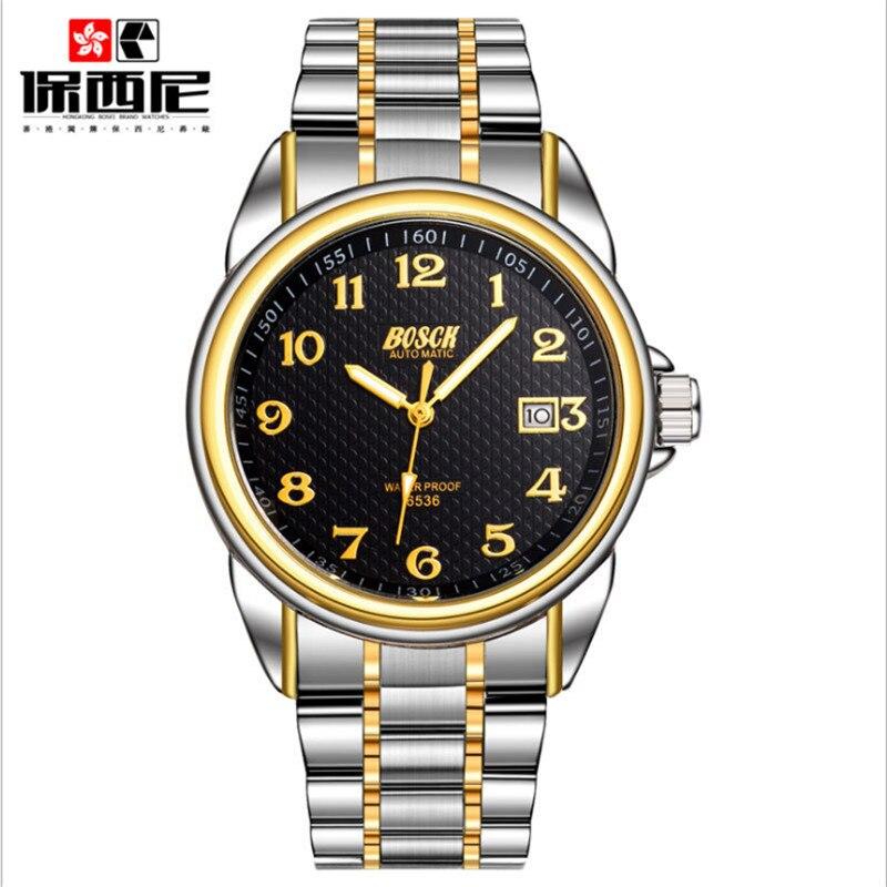 2017 Bosch Men S Mechanical Power Automatic Watch Watches Luxury Brand Waterproof Military Watch Strap Genuine